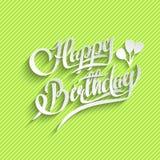 Carte de voeux de lettrage de joyeux anniversaire Images stock
