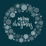 Carte de voeux de lettrage de main de Joyeux Noël Images libres de droits