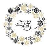 Carte de voeux de lettrage de main de Joyeux Noël Photo libre de droits