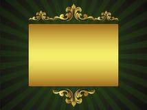Carte de voeux de luxe verte Photographie stock