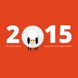 Carte de voeux de moutons de Noël Image libre de droits