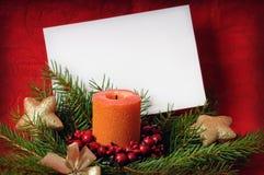Carte de voeux de Noël Photographie stock