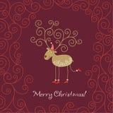 Carte de voeux de Noël Photo libre de droits