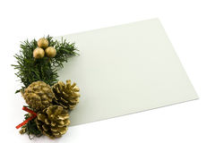 Carte de voeux de Noël Photo stock