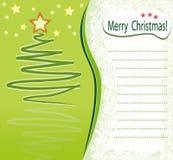 Carte de voeux de Noël Photos libres de droits