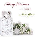 Carte de voeux de Noël Image libre de droits