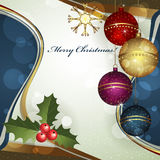 Carte de voeux de Noël Photos stock