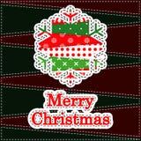 Carte de voeux de Noël Photographie stock libre de droits