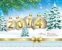 Carte de voeux de Noël 2014 illustration de vecteur