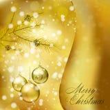 Carte de voeux de Noël Photo stock