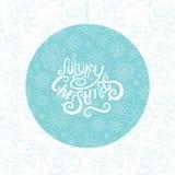 Carte de voeux de Noël avec des flocons de neige Image libre de droits