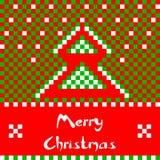 Carte de voeux de Noël avec l'arbre de Noël Photo stock