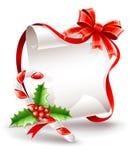 Carte de voeux de Noël avec la canne de caramel Photo stock