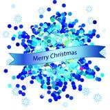 Carte de voeux de Noël avec le flocon de neige Photo stock