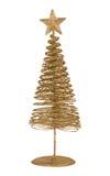 Carte de voeux de Noël avec le sapin en métal d'or Photo stock