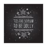 Carte de voeux de Noël avec le texte sur le tableau Images stock