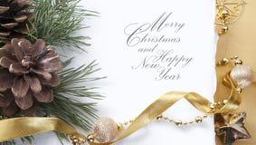 Carte de voeux de Noël d'art Photo libre de droits