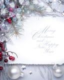 Carte de voeux de Noël d'art photographie stock