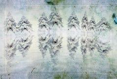 Carte de voeux de Noël de cru Photos libres de droits