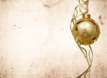 Carte de voeux de Noël de cru Photo libre de droits