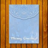 Carte de voeux de Noël de vecteur Images libres de droits