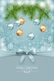 Carte de voeux de Noël de vecteur et d'an neuf
