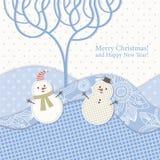 Carte de voeux de Noël et d'an neuf Photo stock