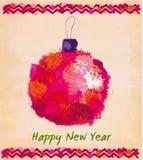 Carte de voeux de Noël et d'an neuf Photos stock