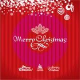 Carte de voeux de Noël. Fond de Noël. Images stock