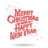 Carte de voeux de Noël, illustration du vecteur ENV 8 Image libre de droits