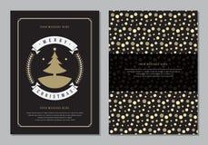 Carte de voeux de Noël ou calibre de conception d'affiche Photographie stock libre de droits