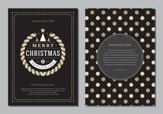 Carte de voeux de Noël ou calibre de conception d'affiche Images libres de droits