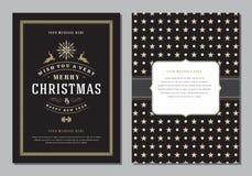Carte de voeux de Noël ou calibre de conception d'affiche Image libre de droits