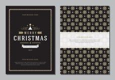 Carte de voeux de Noël ou calibre de conception d'affiche Images stock