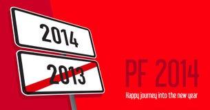 Carte de voeux de nouvelle année Image libre de droits