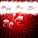 Carte de voeux de nouvelle année 2014. Image libre de droits