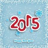 Carte de voeux de nouvelle année faite dans le style d'origami Image stock
