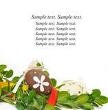 Carte de voeux de Pâques images libres de droits