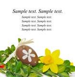 Carte de voeux de Pâques photographie stock