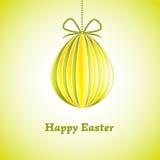 Carte de voeux de Pâques avec l'oeuf. Illustration de vecteur. ENV 10 Photographie stock libre de droits