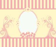 Carte de voeux de Pâques avec la trame Photos libres de droits