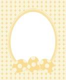 Carte de voeux de Pâques avec la trame Photographie stock libre de droits