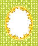 Carte de voeux de Pâques avec la trame Photo stock