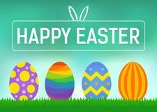 Carte de voeux de Pâques ou affiche heureuse de vecteur d'affichage Images libres de droits
