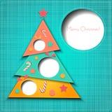 Carte de voeux de papier de Joyeux Noël de vecteur illustration de vecteur