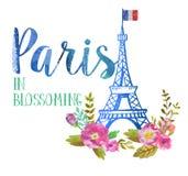 Carte de voeux de Paris Photographie stock libre de droits