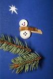 Carte de voeux de patchwork de Joyeux Noël Photographie stock libre de droits