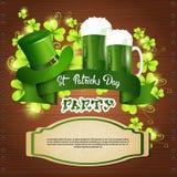 Carte de voeux de Patrick Day Beer Festival Banner de saint illustration stock