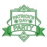 Carte de voeux de Patrick Day Beer Festival Banner de saint Image stock