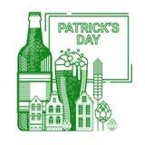 Carte de voeux de Patrick Day Beer Festival Banner de saint Photos libres de droits